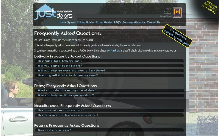FAQ Page | Just Garage Doors by opcs