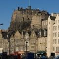 Edinburgh Castle from the Grassmarket
